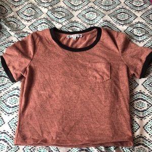 Cropped Mauve Shirt